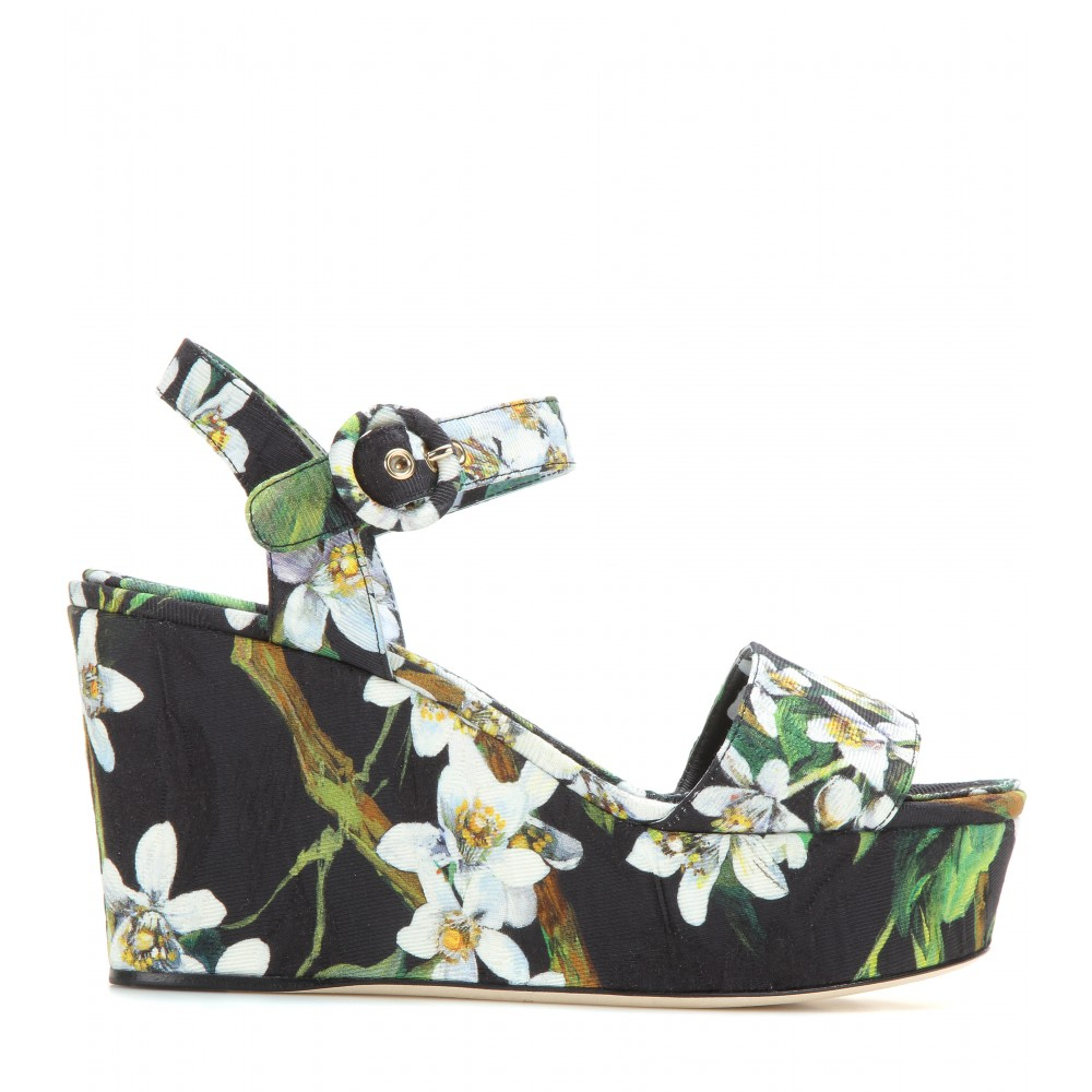 clearance view Dolce & Gabbana Bianca Brocade Wedges discount footlocker finishline free shipping classic cheap sale reliable exclusive for sale tgPnCxE