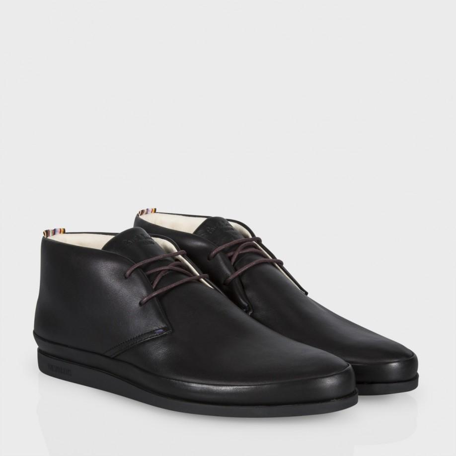 Paul smith Black Ellis Leather 'Loomis' Chukka Boots in Black for ...