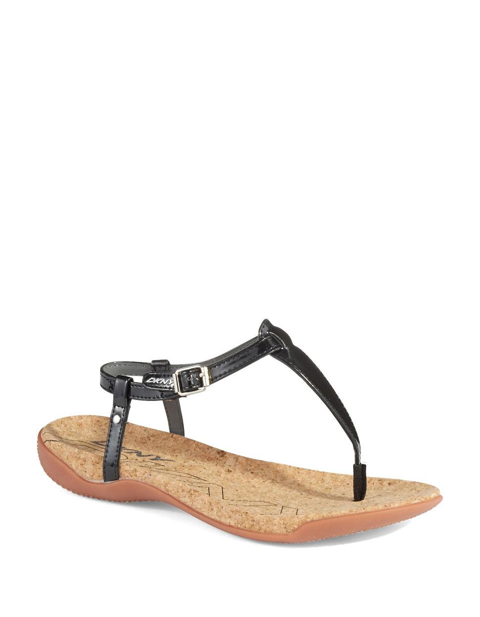 cd827428e3a4 Lyst - Dkny Sabrina Thong Sandals in Black