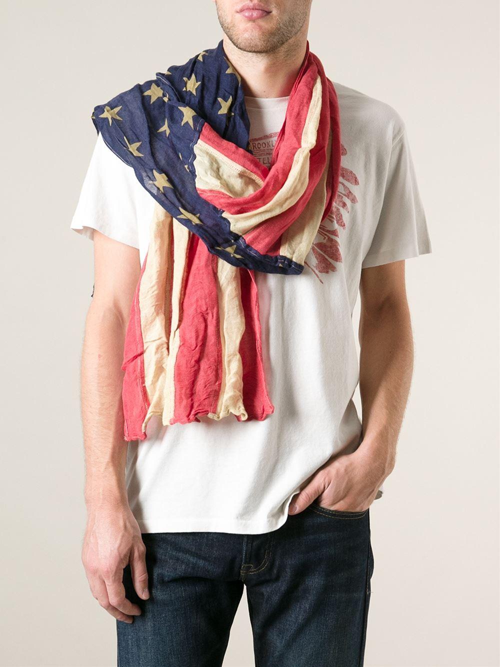 Lyst Ralph Lauren American Flag Scarf For Men