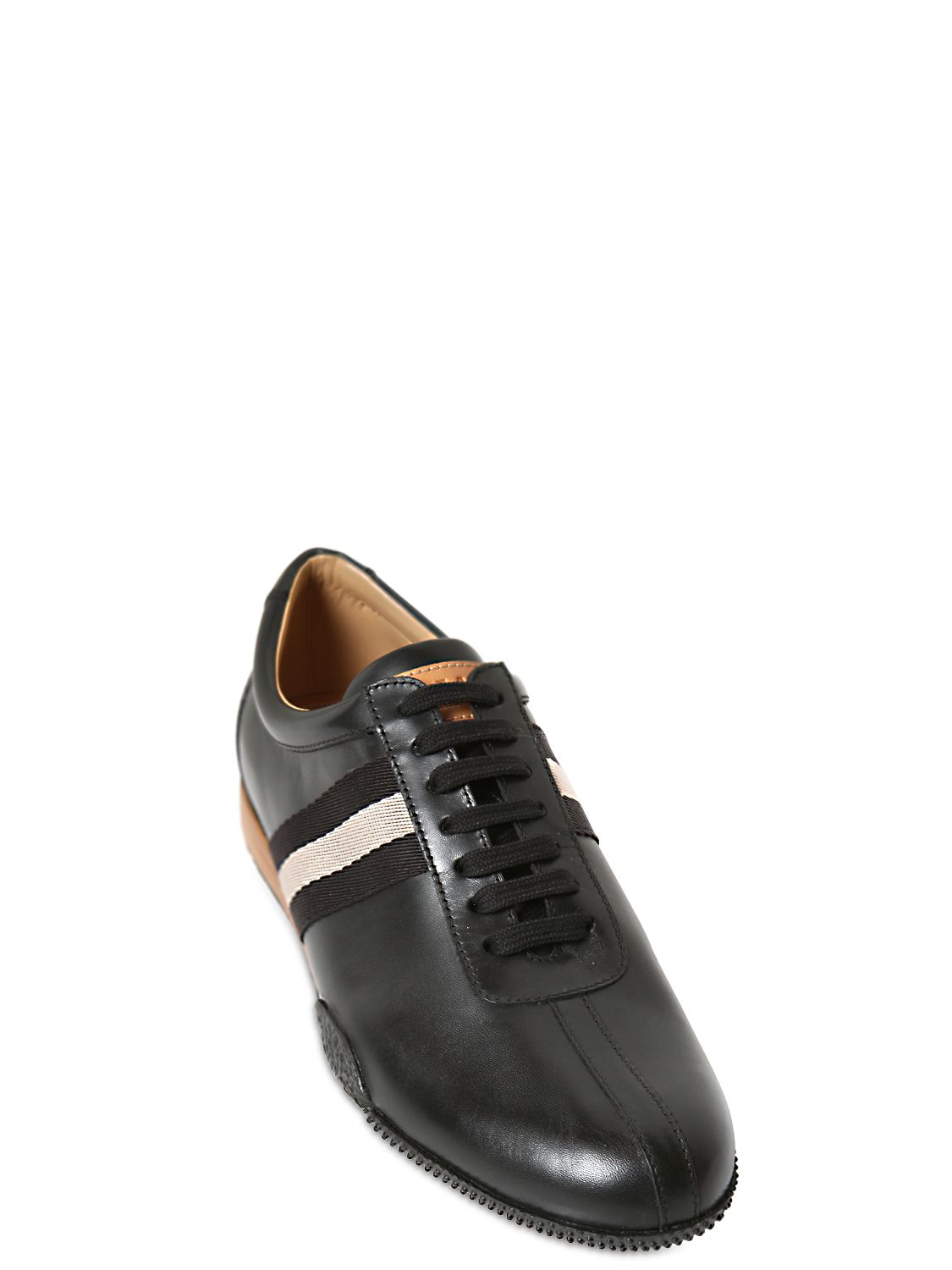bally calf leather sneakers in black for lyst