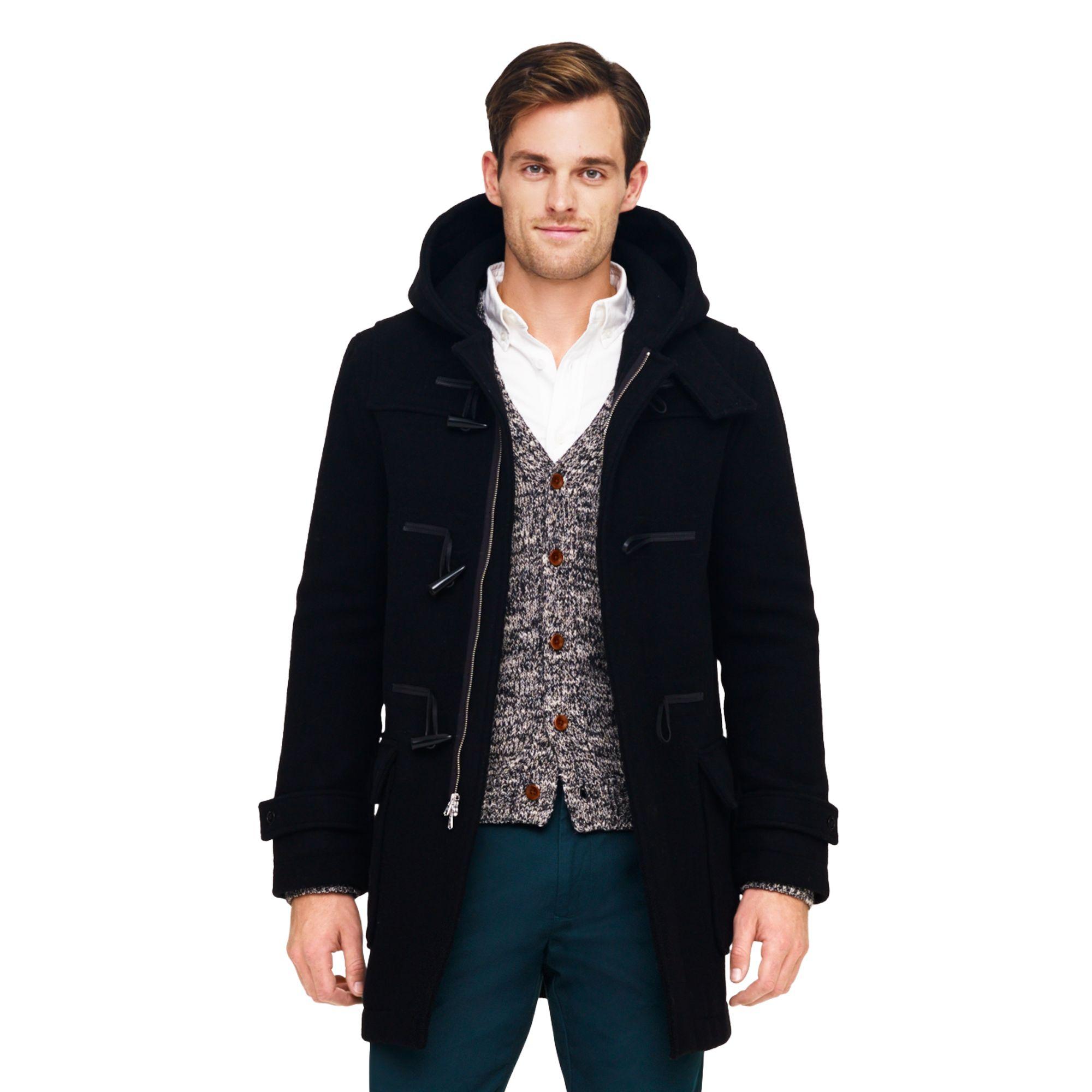 Club monaco Toggle Coat in Black for Men | Lyst