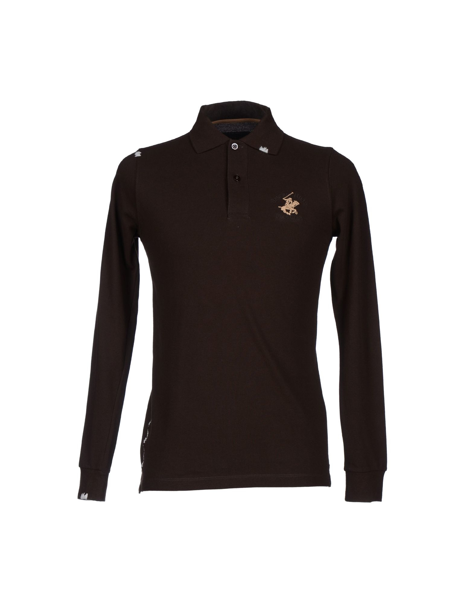 Lyst Beverly Hills Polo Club Polo Shirt In Brown For Men
