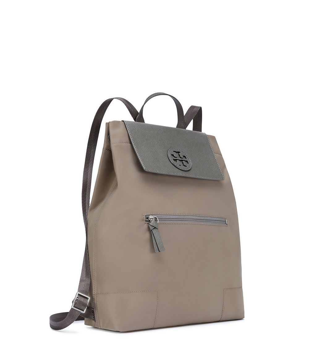0dc445cafc3b Lyst - Tory Burch Ella Packable Backpack in Gray