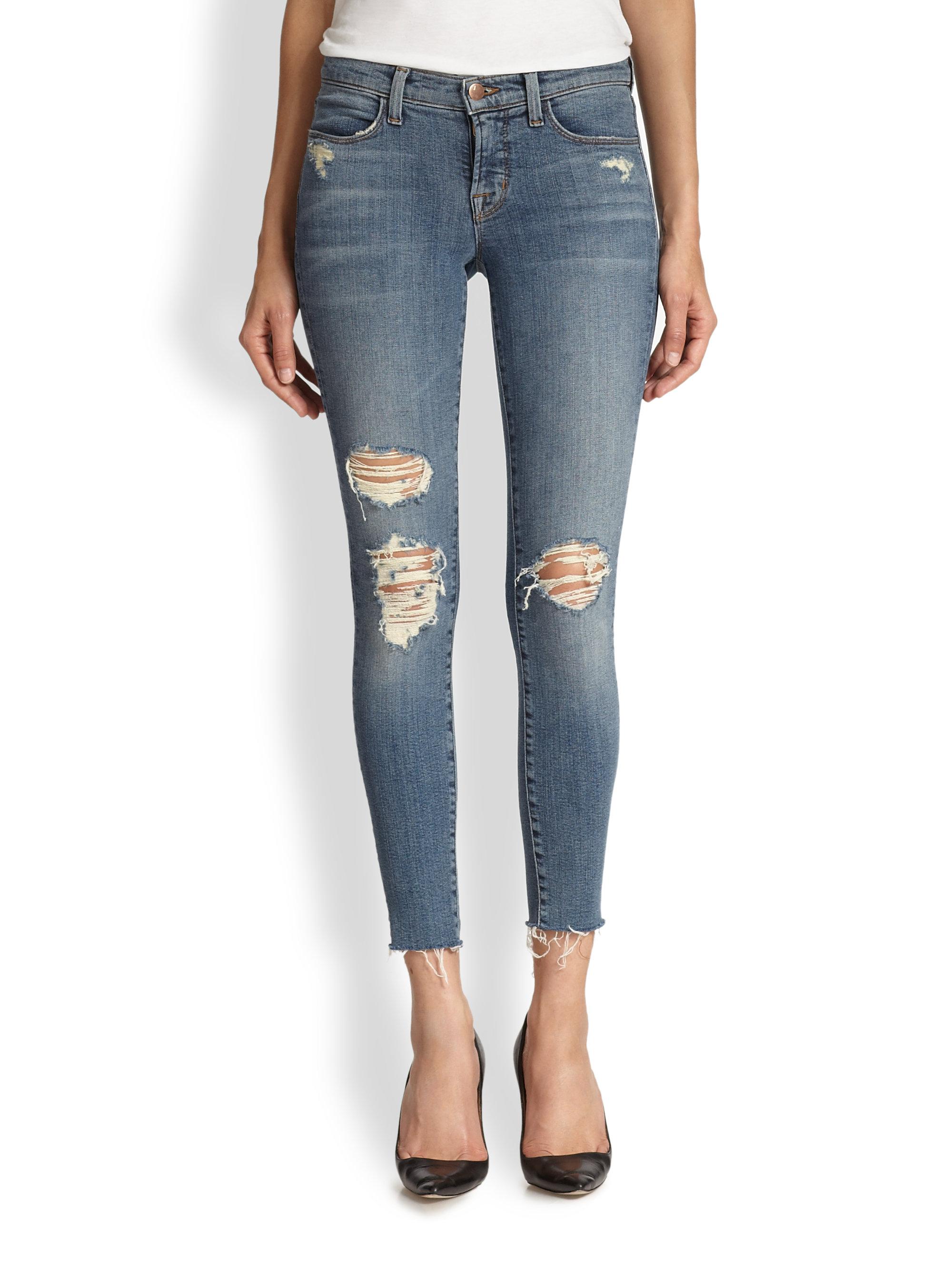 distressed cropped jeans - Blue J Brand FQ5A8PRt