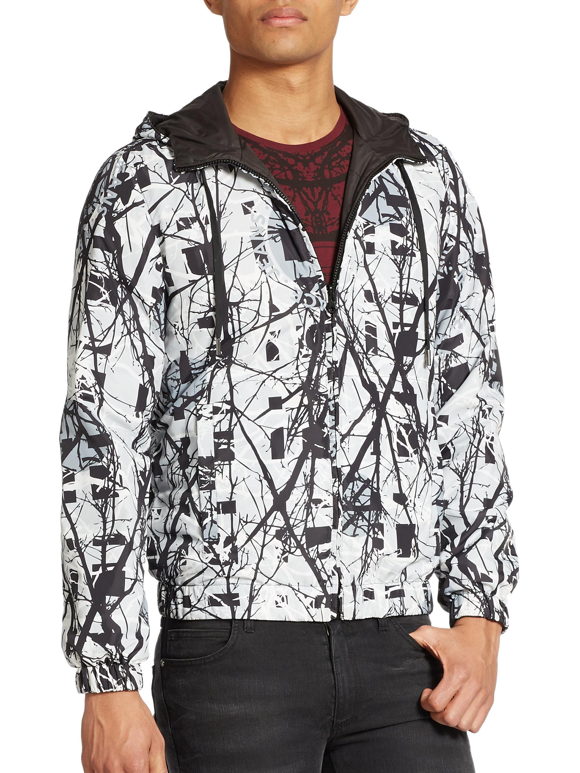 967ca9bb92 Versace Jeans Reversible Print Jacket in Black for Men - Lyst