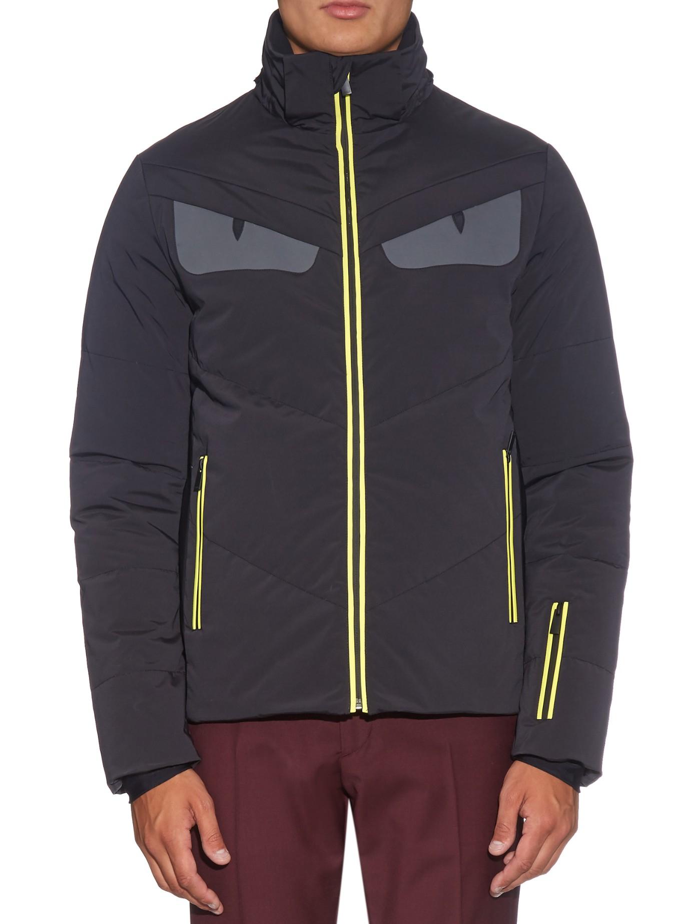 Lyst - Fendi Bag Bugs Fur-trimmed Technical Ski Jacket in Black for Men f6dfc49ce