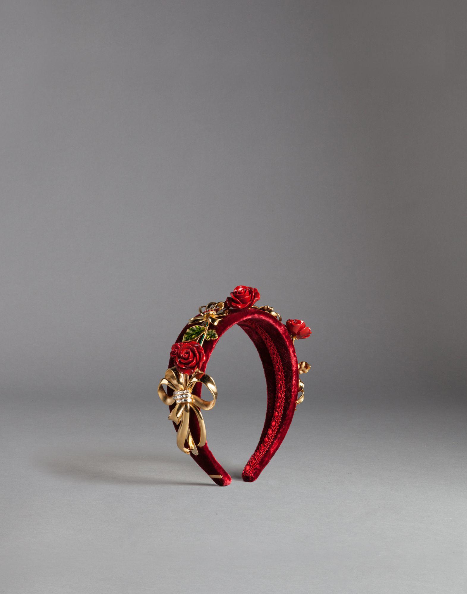 Lyst - Dolce   Gabbana Red Velvet Headband in Red 49573769787