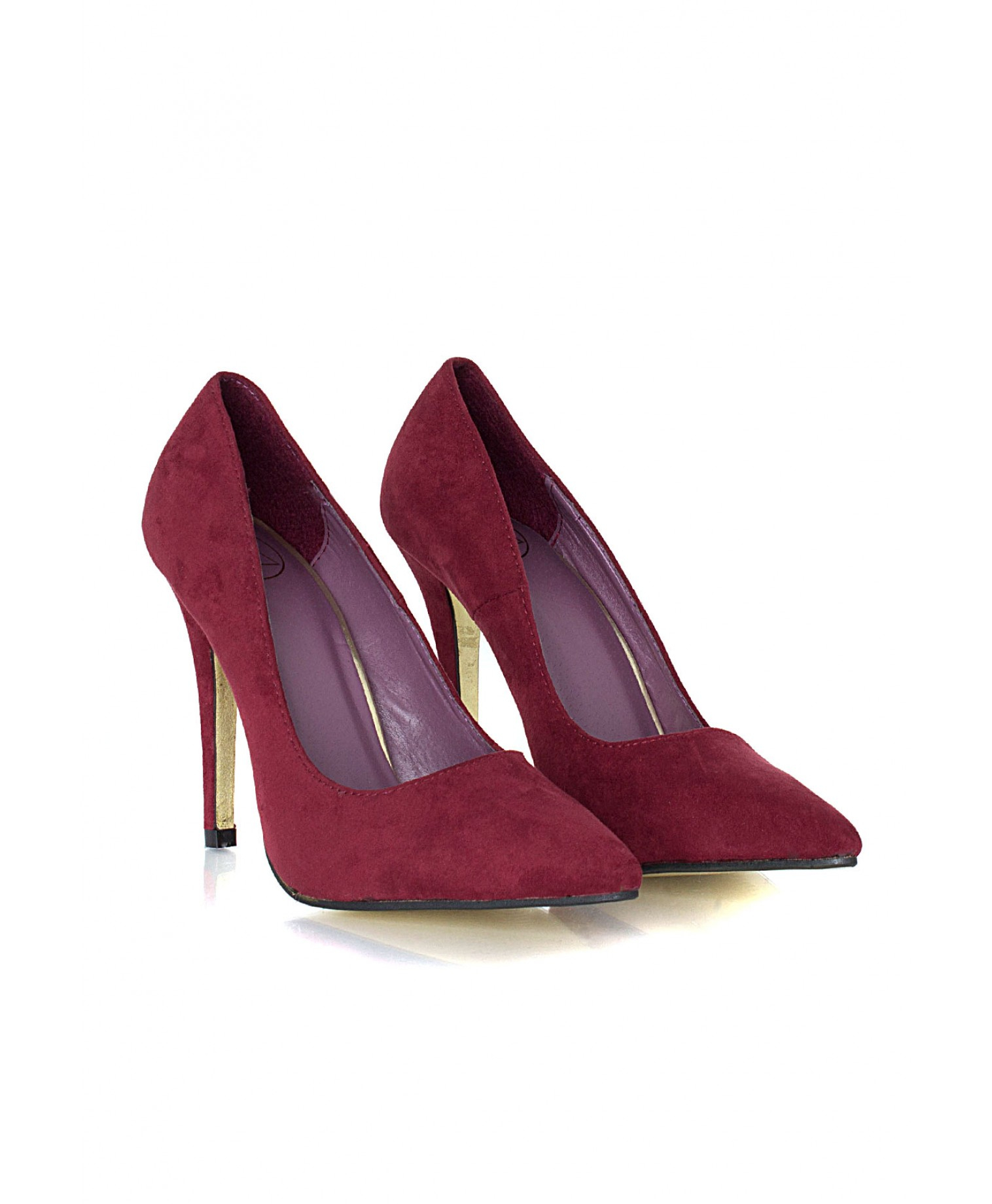 Lyst Missguided Tonita Suede Court Heels In Burgundy In Red