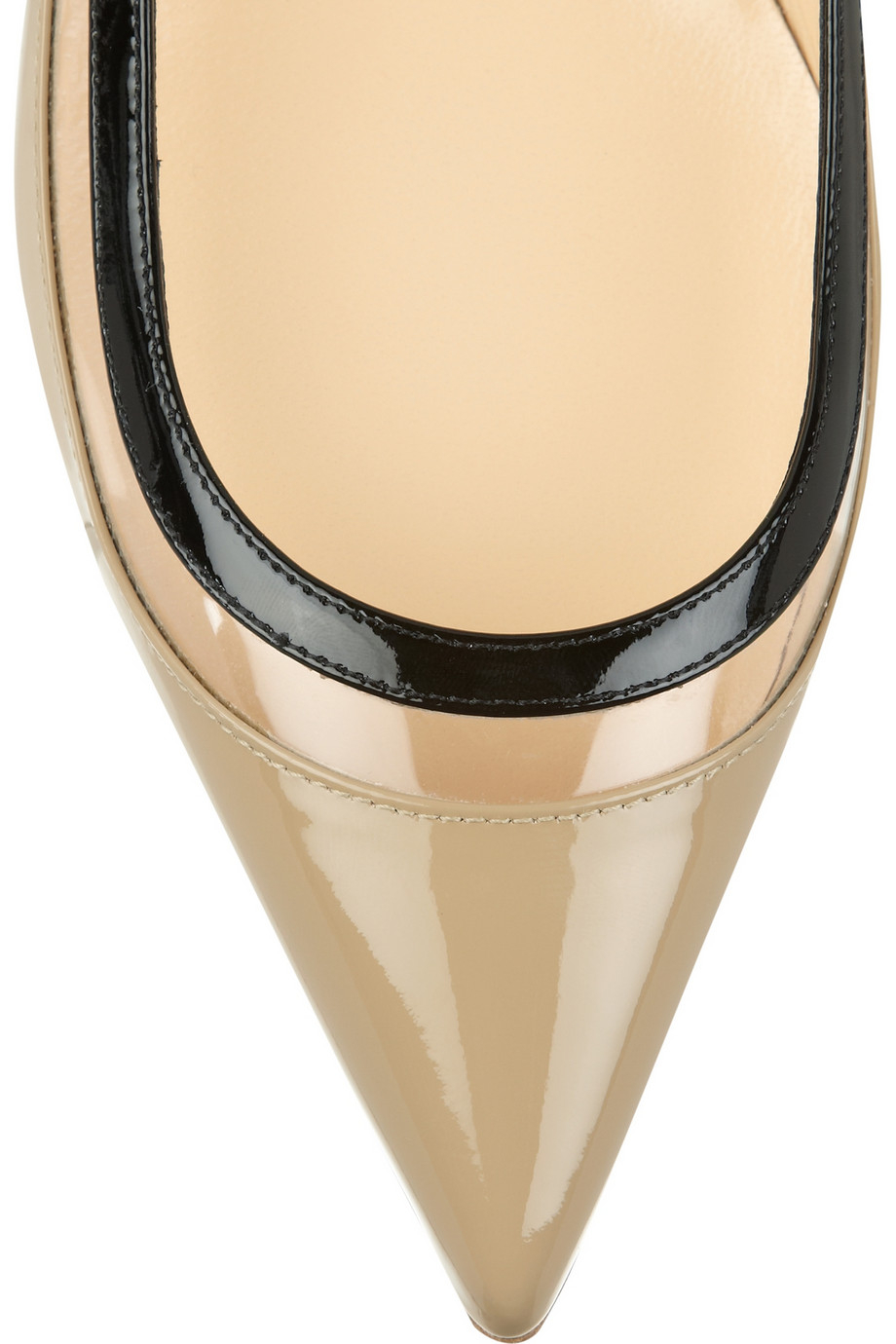 christian louboutin flats Beige metallic threading | cosmetics ...