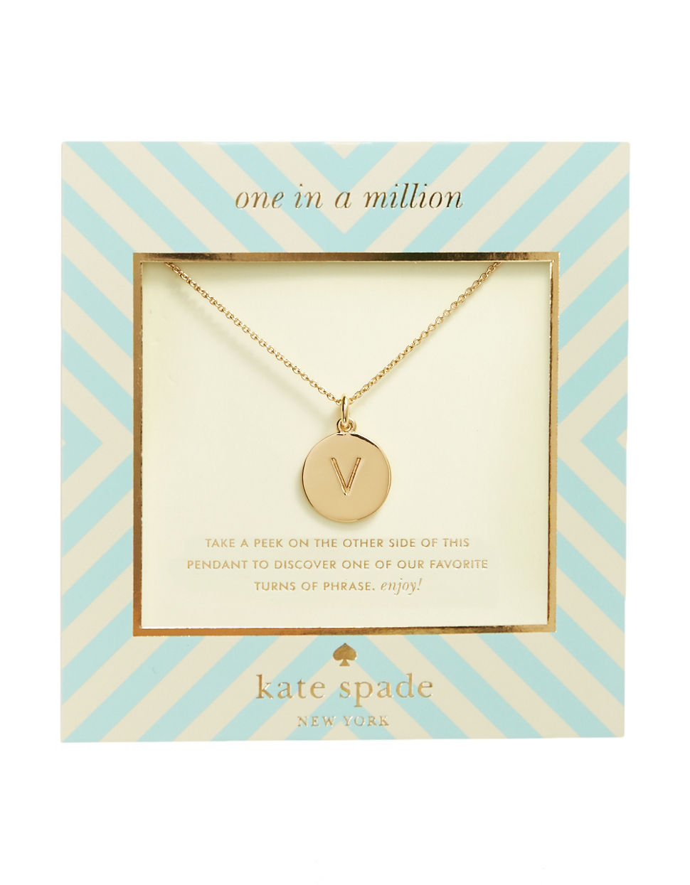 Kate spade new york One In A Million Initial Pendant ...