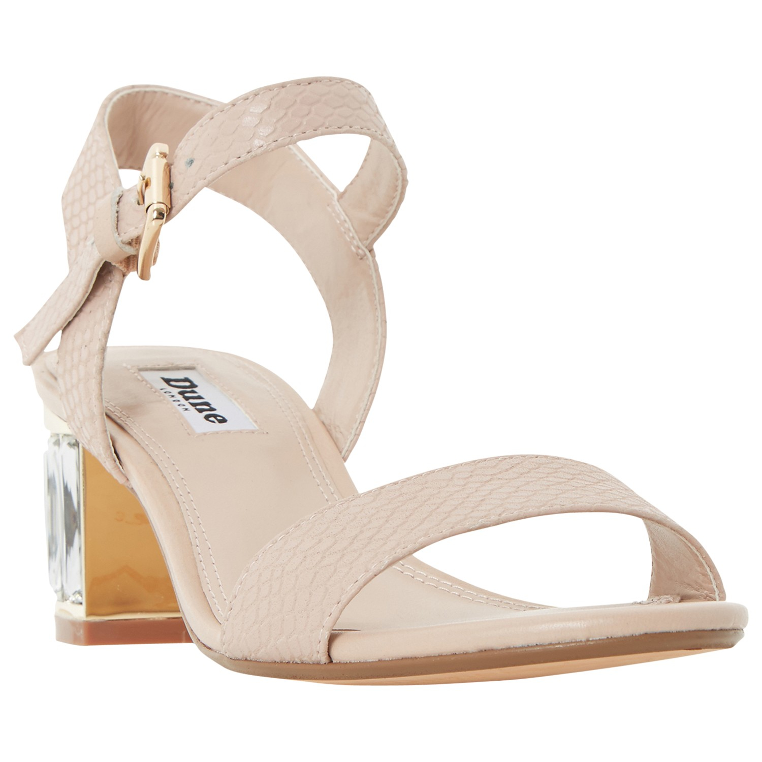 00ed65237 Dune Marcia Jewelled Block Heel Sandals in Natural - Lyst