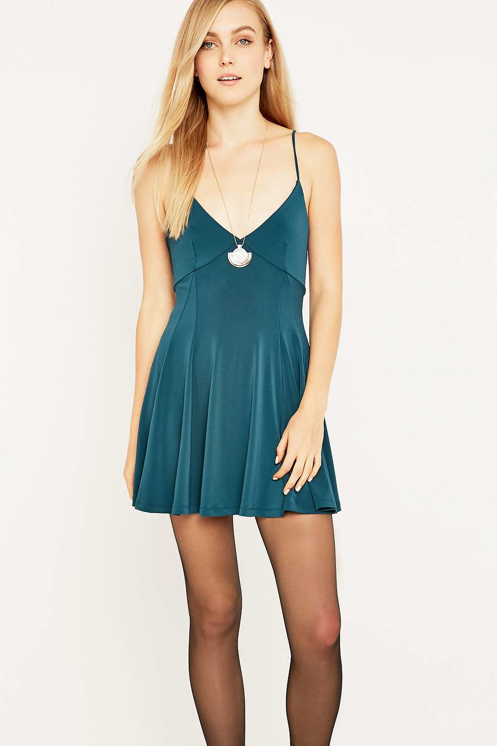 Lyst - Silence + Noise Lonnie Teal Dress in Green