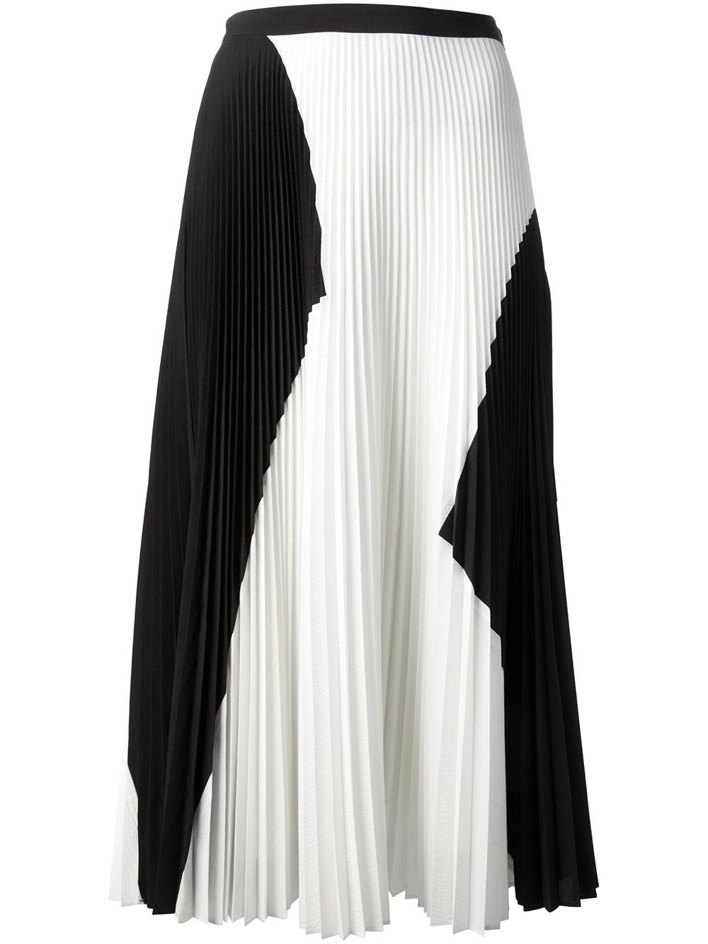 proenza schouler pleated skirt in white black lyst