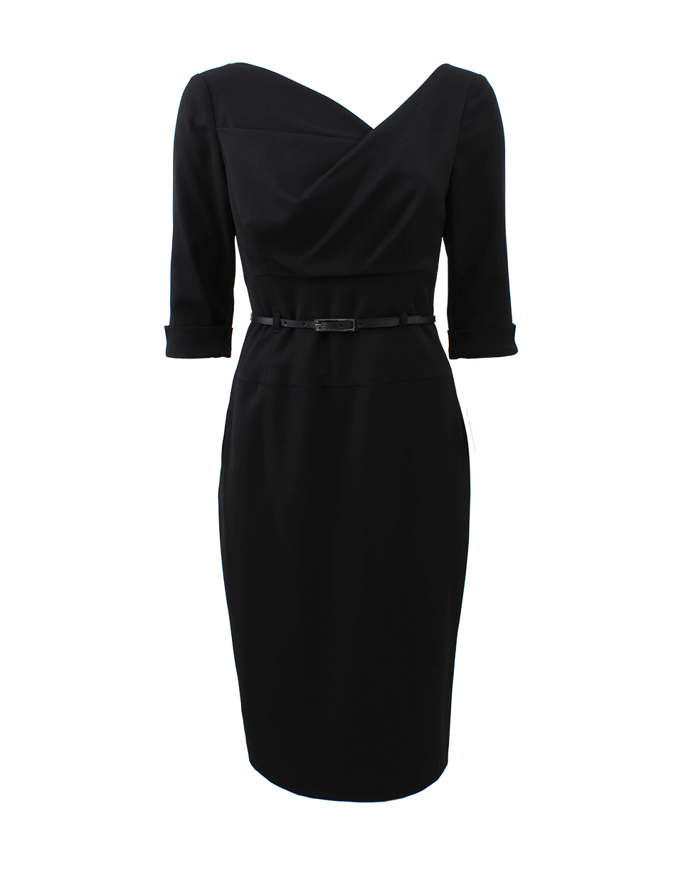 0afdf5c3f70 Lyst - Black Halo Threequarter Sleeve Jackie O Dress in Black