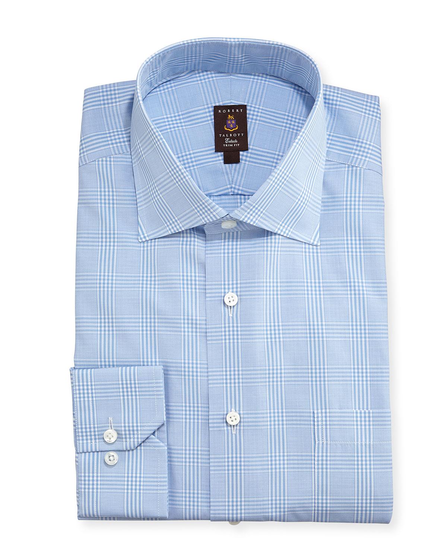 Robert talbott glen plaid twill trim fit dress shirt in for Robert talbott shirts sale