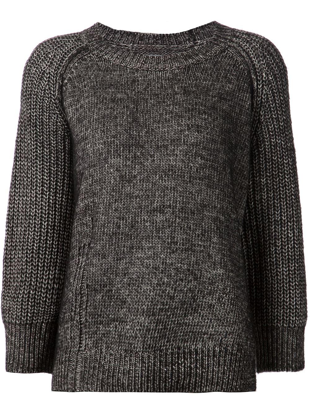 Raquel allegra Chunky Knit Sweater in Gray Lyst