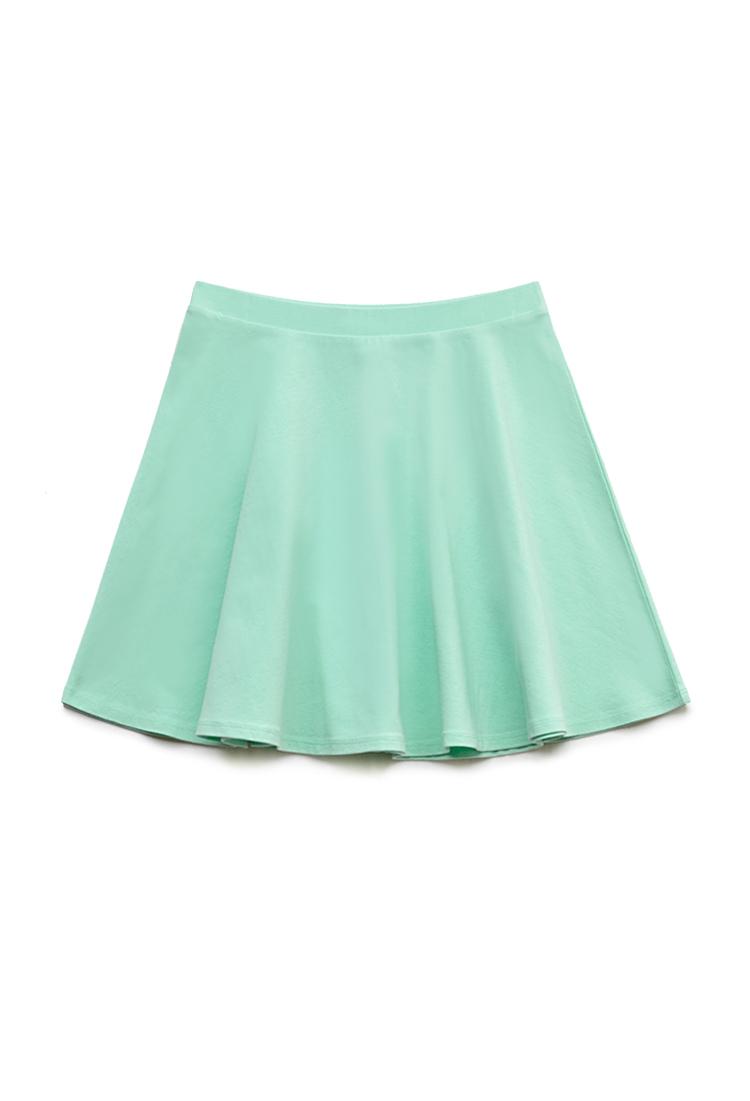 Forever 21 Knit Skater Skirt In Green Lyst