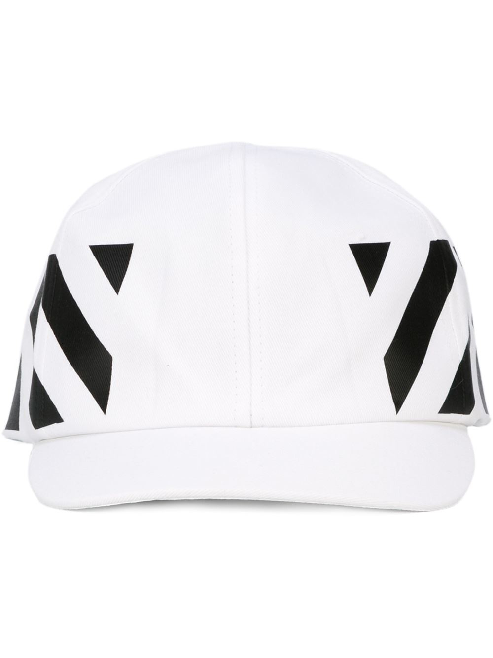 69388081cfd Lyst - Off-White c o Virgil Abloh Striped Baseball Cap in White for Men