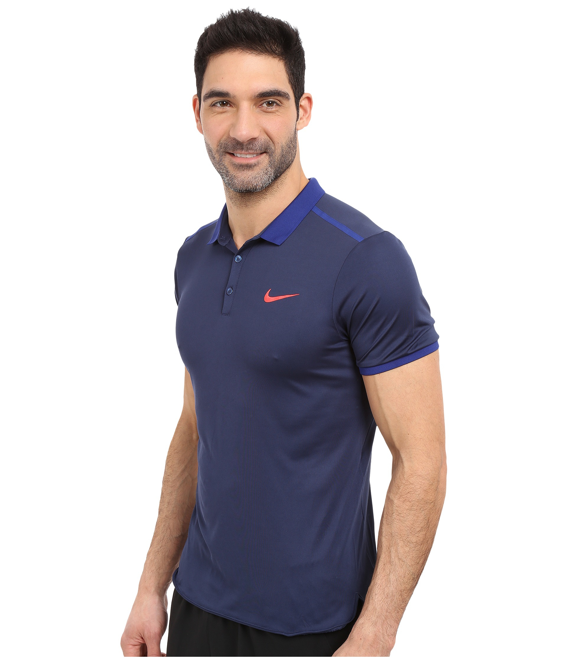 b68682de Nike Court Advantage Solid Tennis Polo in Blue for Men - Lyst