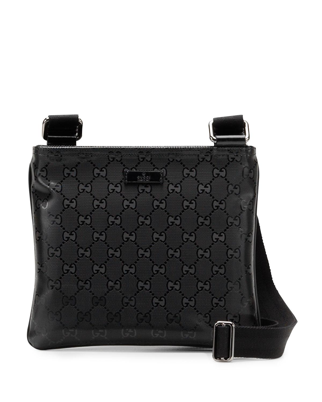 62cc6909e21e Gucci Gg Imprime Messenger Bag in Black - Lyst