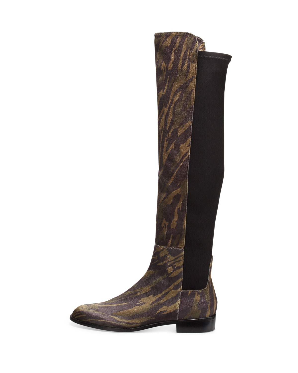 Stuart weitzman Mainstay Tiger-print Over-the-knee Boot in Black ...