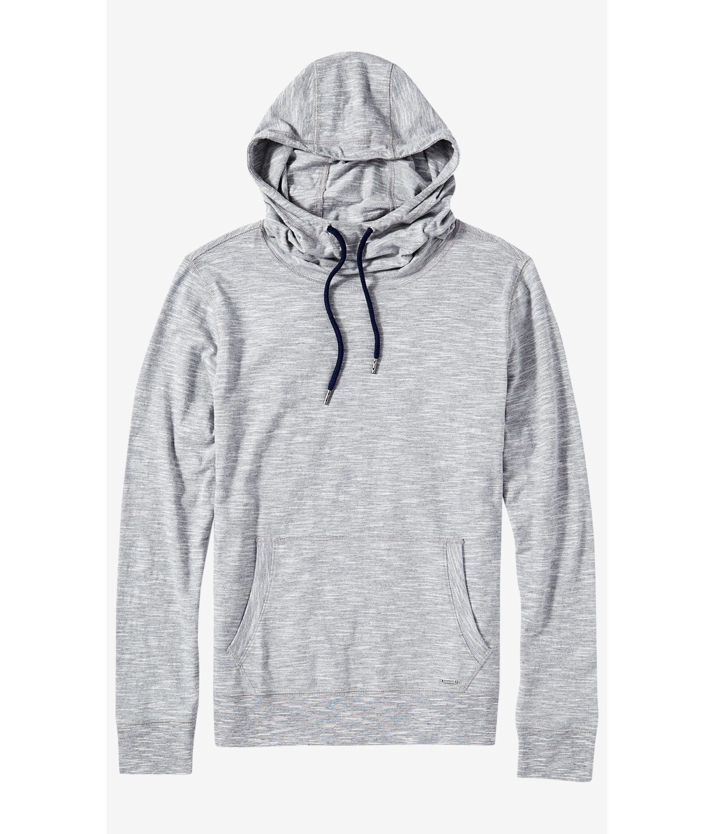 f628c1cf Express Textured Stripe Funnel Neck Hoodie in Blue for Men - Lyst