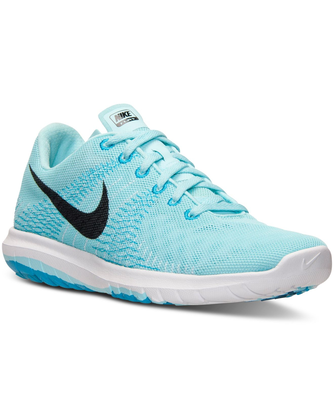 4a080d8aeb32 ... hot lyst nike womens flex fury running sneakers from finish line in  blue 24521 f9bdc