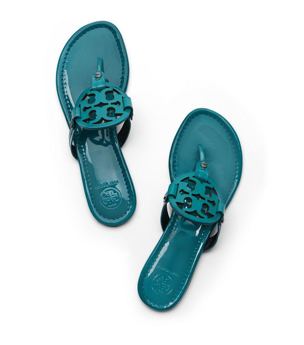 c3a13131c39693 Tory Burch Miller Patent Sandal in Blue - Lyst