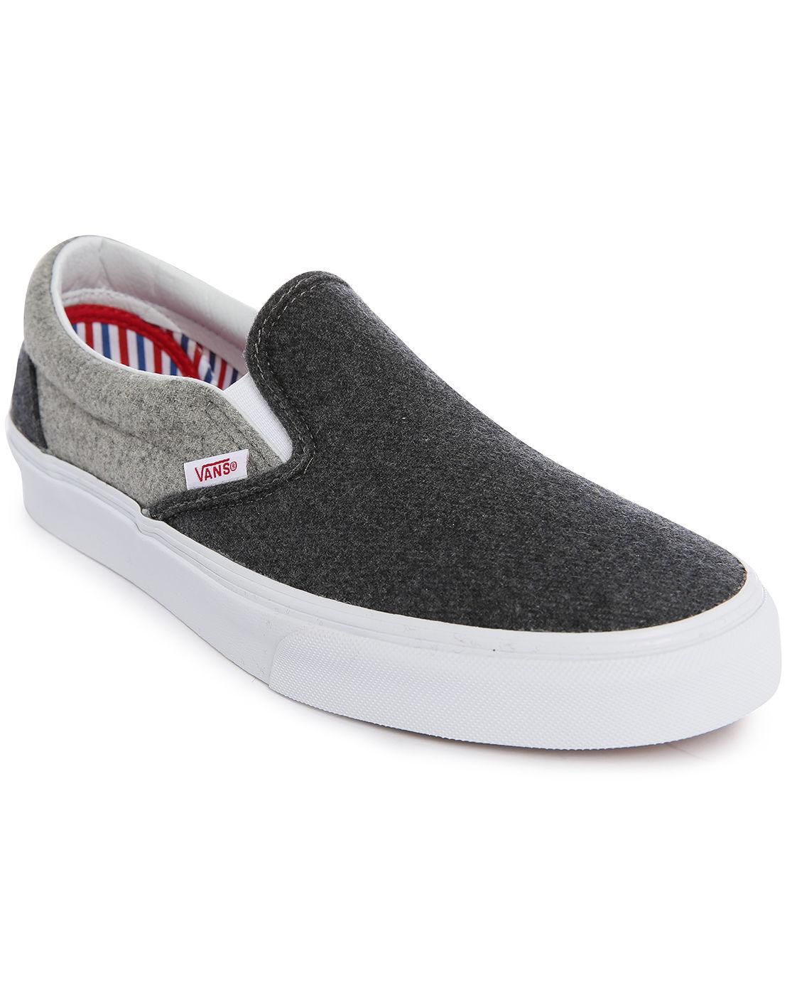 vans wool sport grey slip ons in gray for men grey lyst. Black Bedroom Furniture Sets. Home Design Ideas