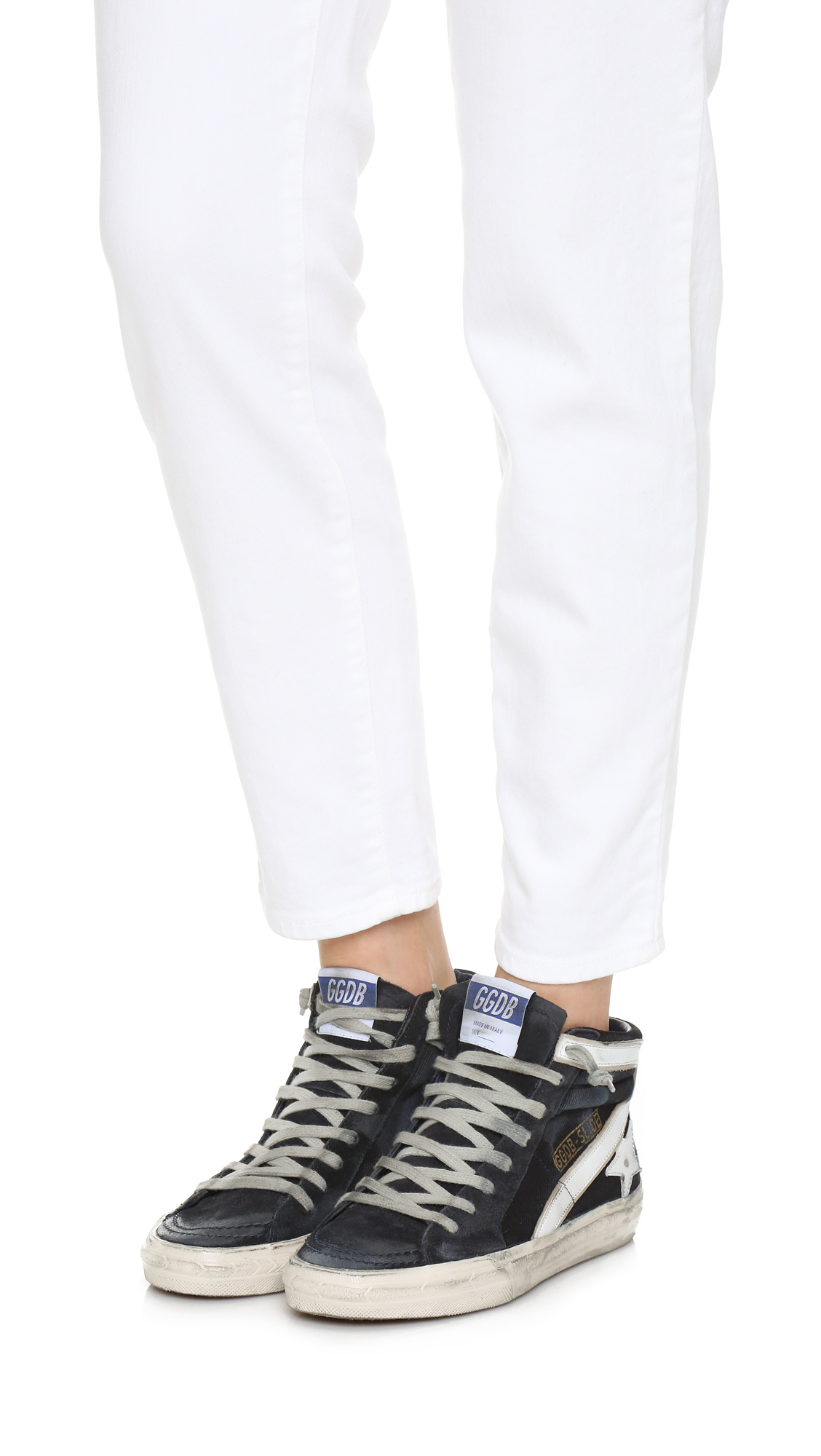 758a56b81ca19 Lyst - Golden Goose Deluxe Brand Slide High Top Sneakers in Blue