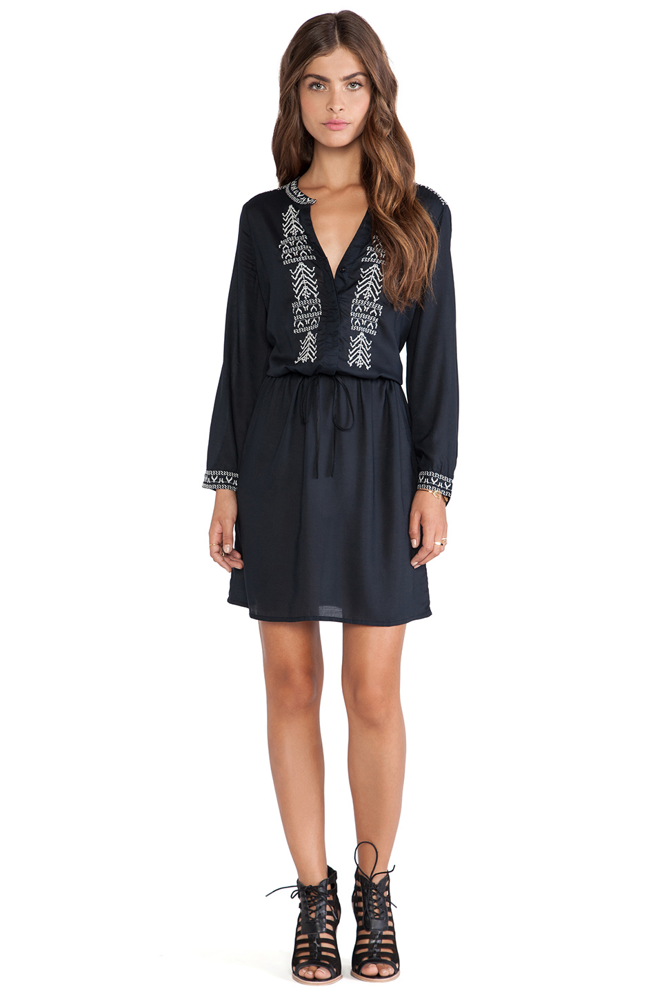 Lyst velvet by graham spencer inas embroidered rayon
