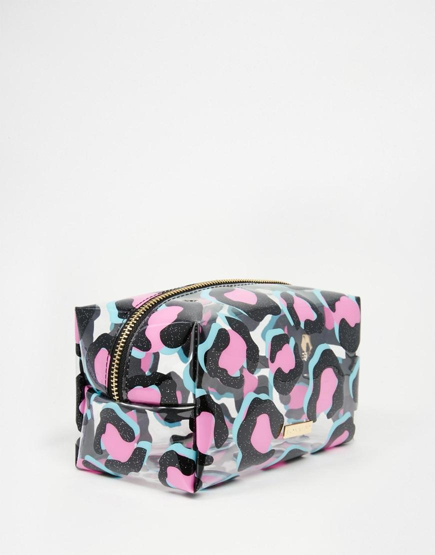 5b04103fe8dadc Skinnydip London Black Glitter Leopard Print Make Up Bag - Lyst