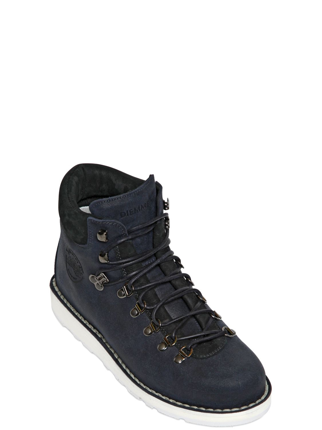 diemme roccia leather walking boots in blue for lyst