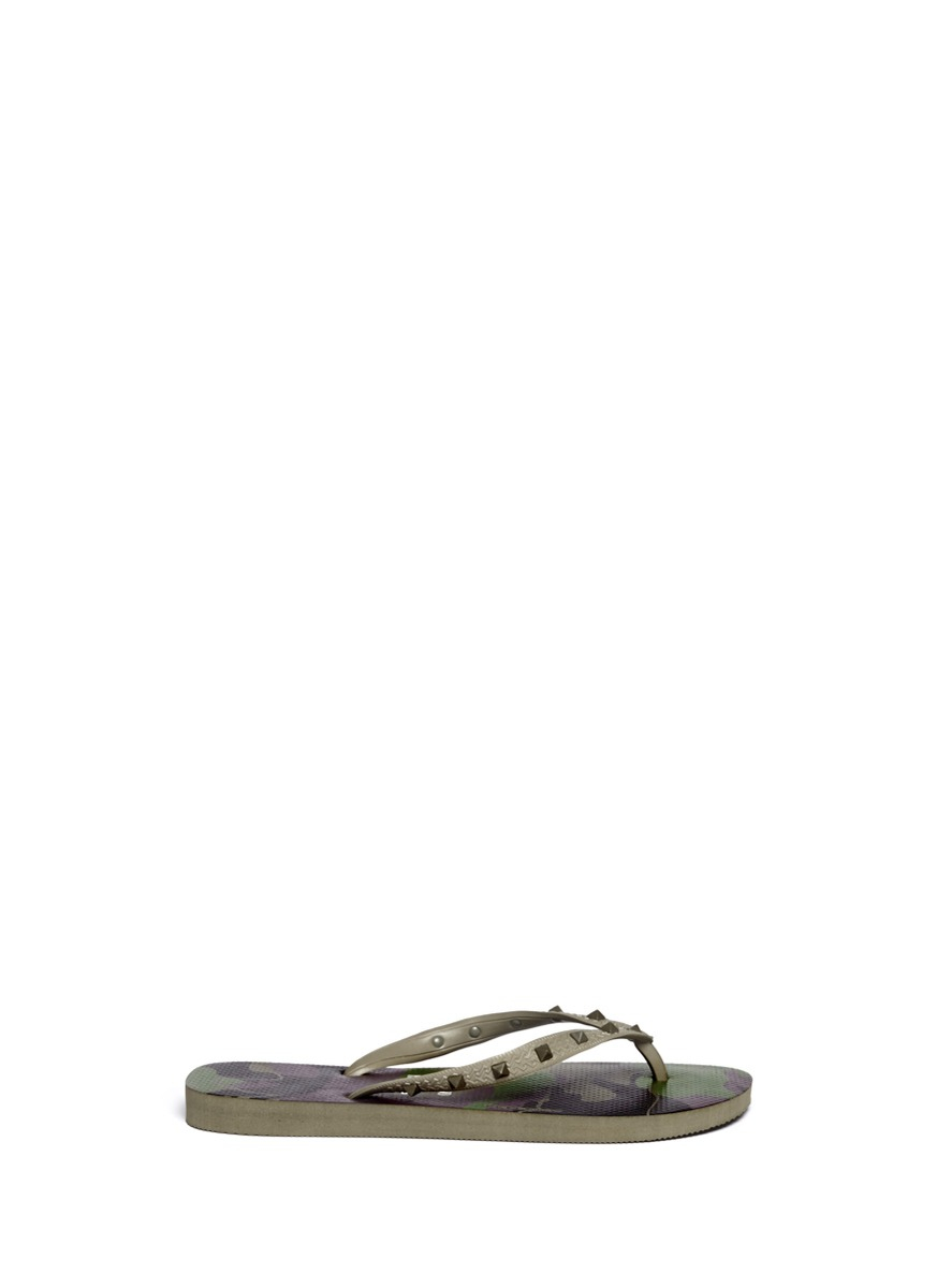 094b419135f4 Valentino X Havaianas Studded Flip Flop in Green for Men - Lyst