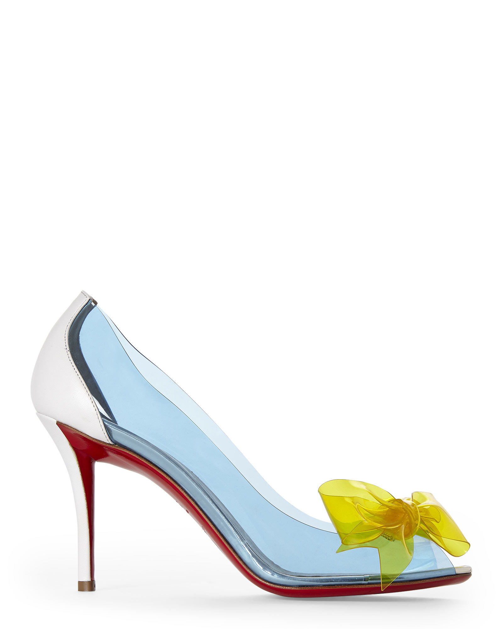 30864902c3f Lyst - Christian Louboutin Blue   Yellow Pvc Bow Pumps