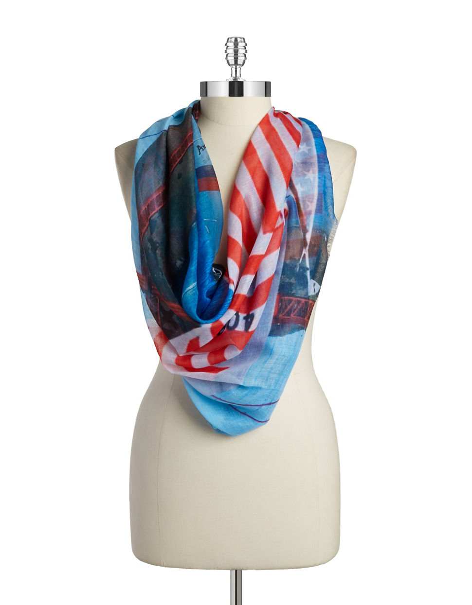 collection 18 sail away scarf in blue lyst