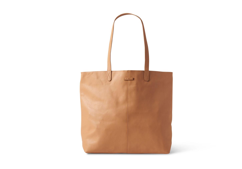 Lyst - TOMS Vachetta Leather Cosmopolitan Tote in Brown dfd05a32e340d