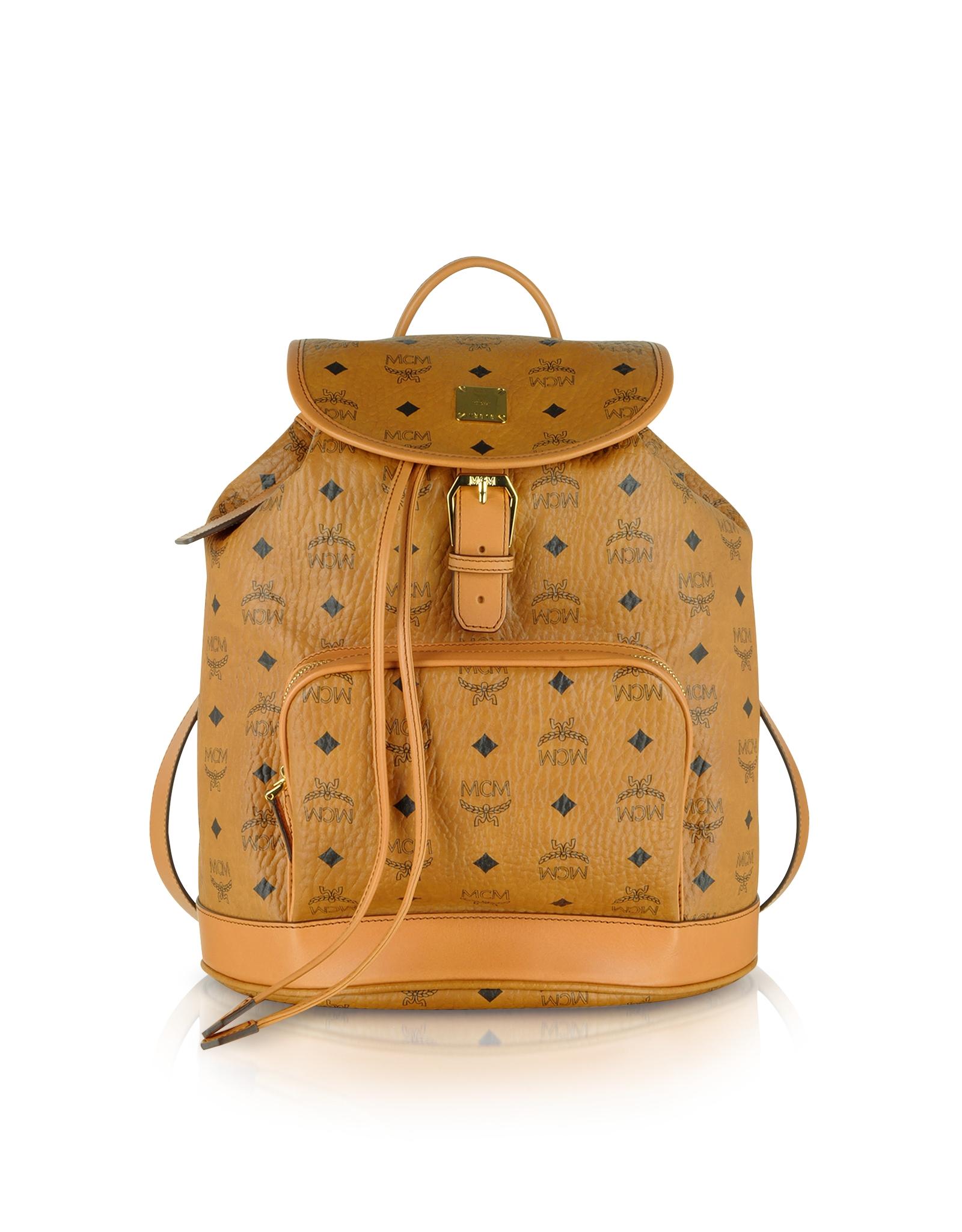 lyst mcm heritage cognac medium backpack in brown. Black Bedroom Furniture Sets. Home Design Ideas