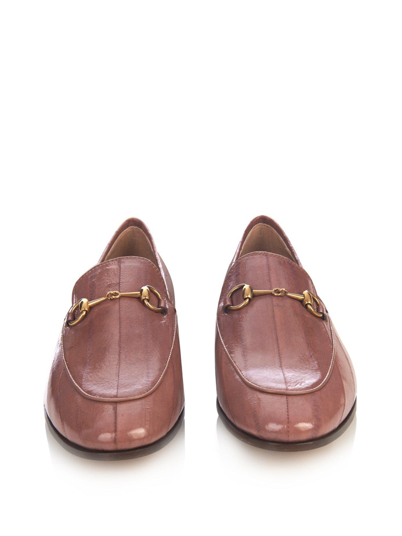 8218fdeb5de Lyst - Gucci Jordan Horse-Bit Leather Loafers in Pink