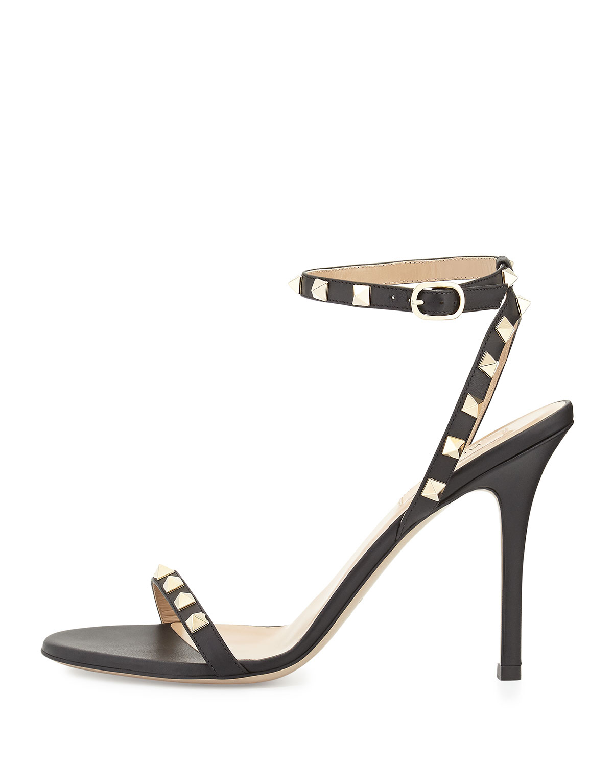 Valentino Leather Ankle Wrap Sandals XgbcAfdxS