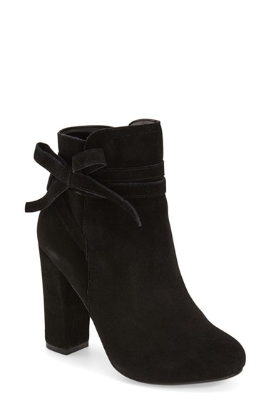 8eac68d5858f0 Steve Madden Loreen Suede Ankle Boots in Black - Lyst