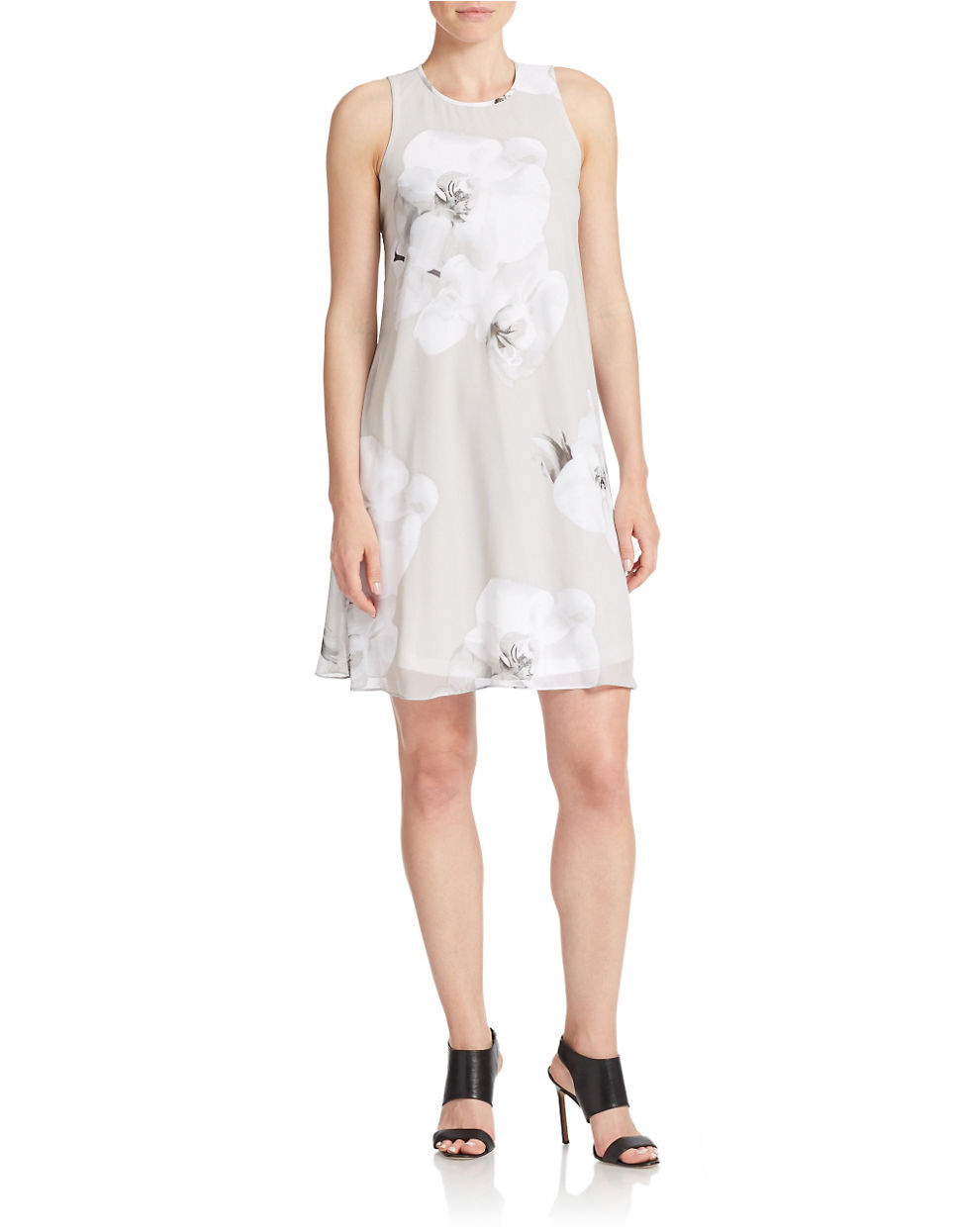 Crepe Floral Dress Calvin Klein