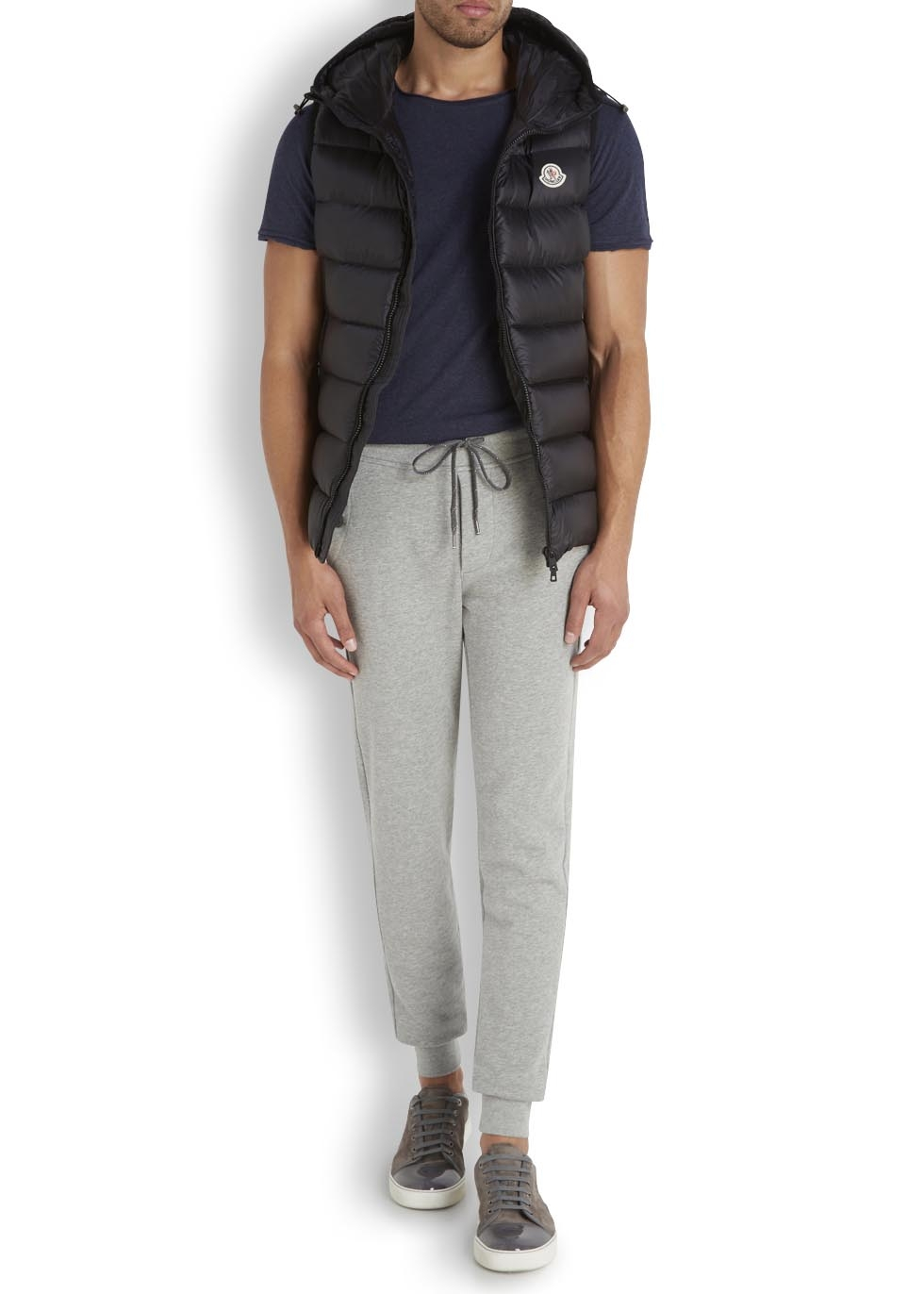 f10d27a727f5 cheap for discount a0093 4870e moncler grey jersey jogging trousers ...