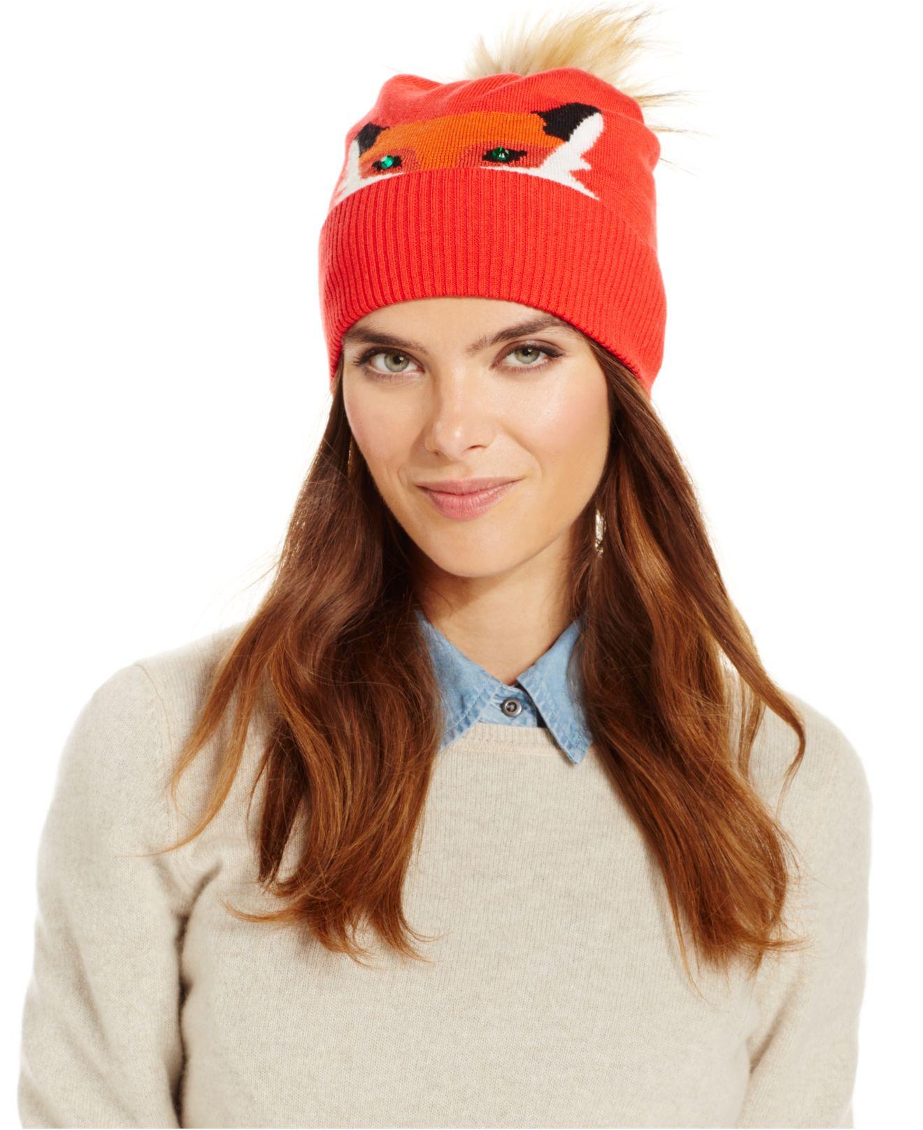 bacd9a52e364e Kate Spade Crazy Like A Fox Beanie in Red - Lyst