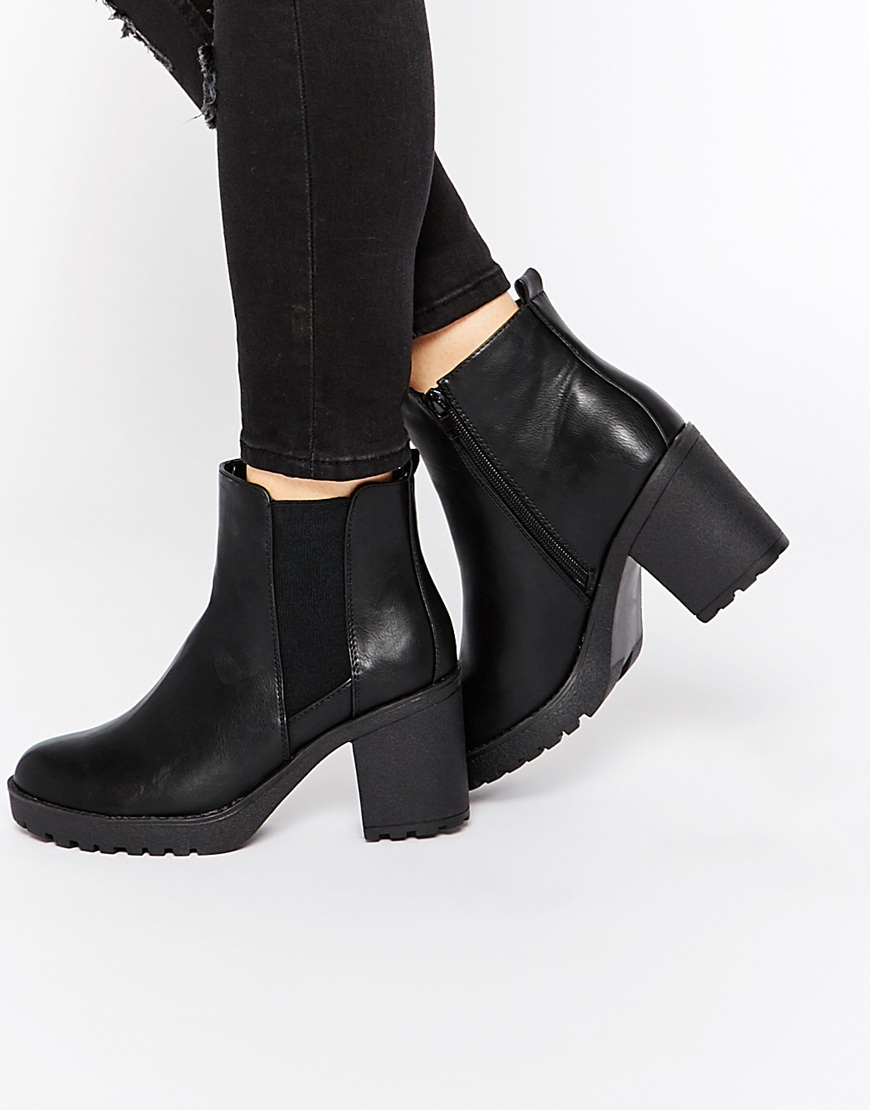 5045fab430d3 Oasis Heeled Ankle Boots in Black - Lyst