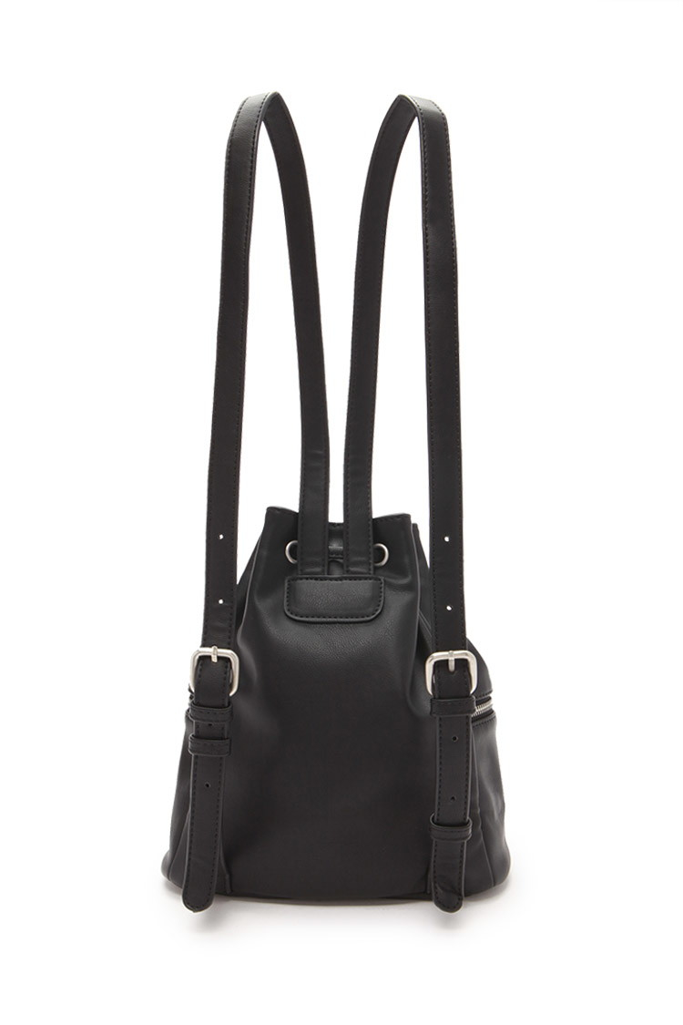 cc32bbdf9f Lyst - Forever 21 Faux Leather Mini Backpack in Black