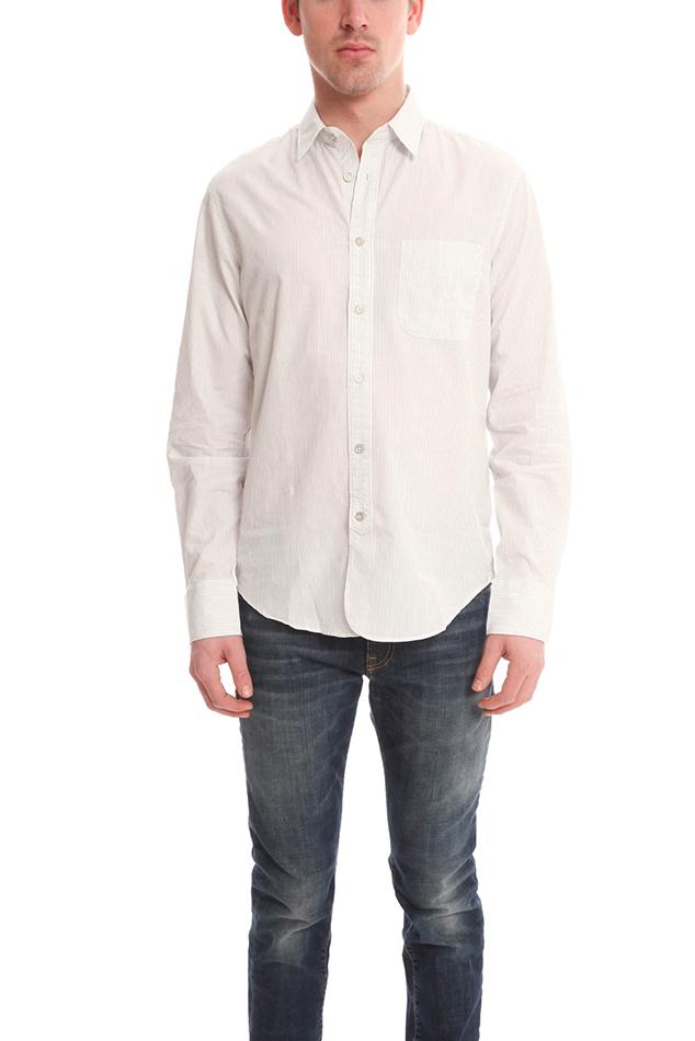 Rag bone 3 4 placket shirt in white for men lyst for Rag and bone mens shirts sale
