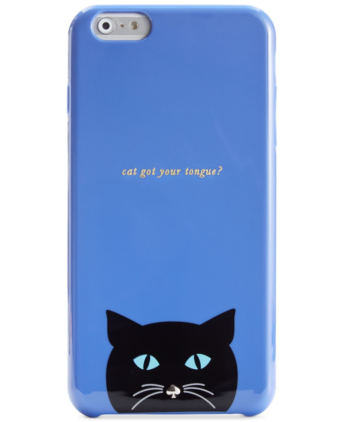 kate spade iphone cases lyst kate spade new york cat resin iphone 6 plus in 4271