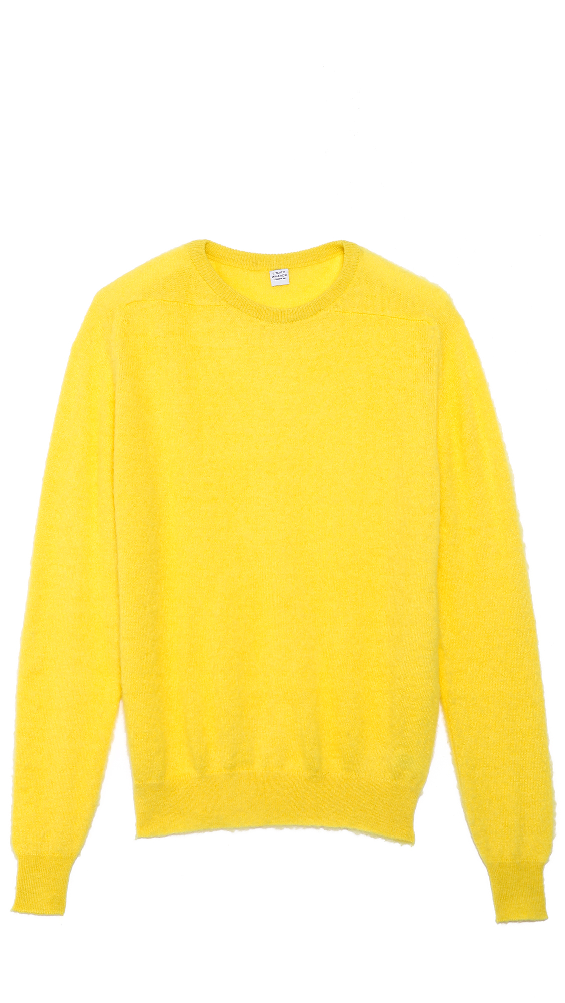 E. tautz Crew Neck Sweater in Yellow for Men | Lyst